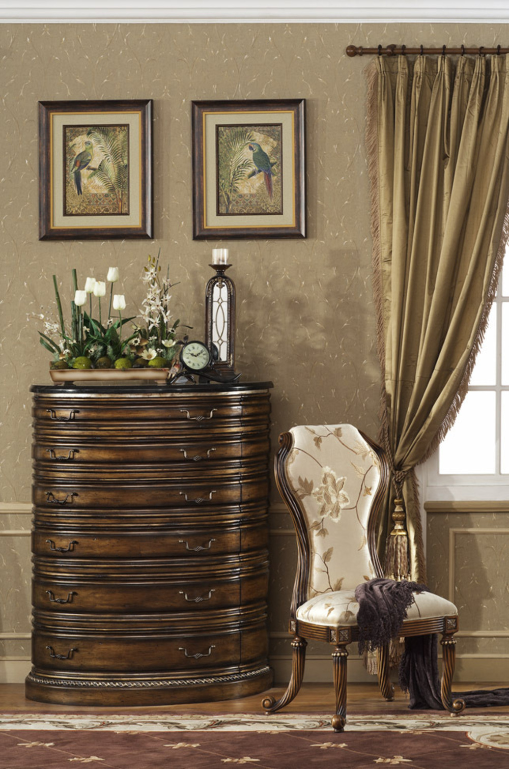 Orleans International - Paris Six Drawer Chest with Granite Top