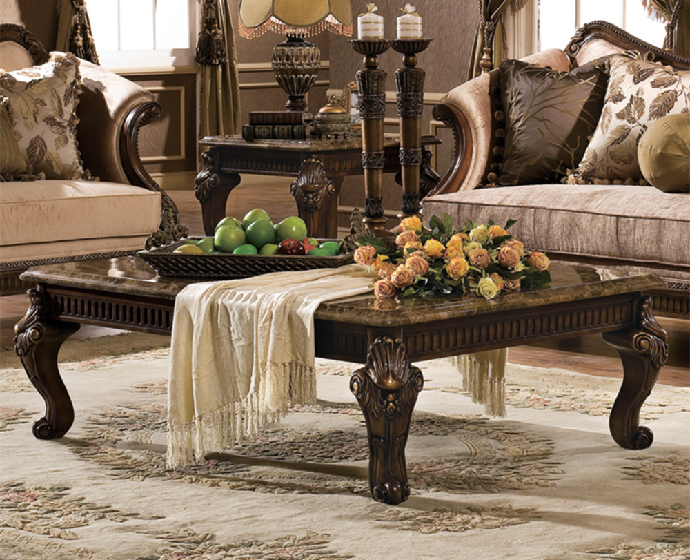 Orleans International - Venice Coffee Table with Marble Top