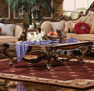 Thumbnail of Orleans International - Barivia Coffee Table with Glass Top