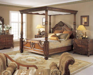 Thumbnail of Orleans International - Renaissance King Canopy Bed