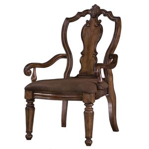 Thumbnail of PULASKI FURNITURE - San Mateo Carved Back Arm Chair, 2 pc