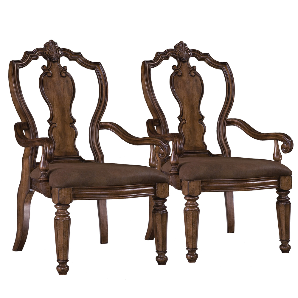 Pulaski - San Mateo Carved Back Arm Chair, 2 pc