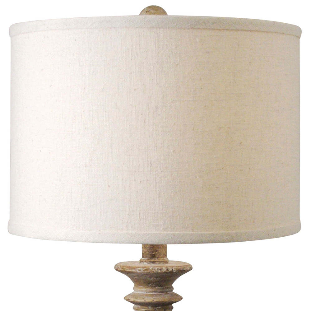 Regina Andrew - Distressed Wood Turned Spindle Lamp