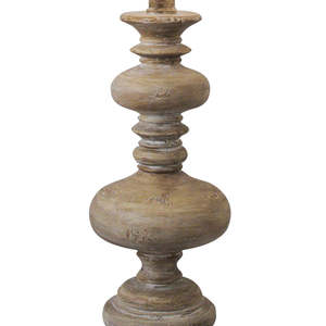 Thumbnail of Regina Andrew - Distressed Wood Turned Spindle Lamp