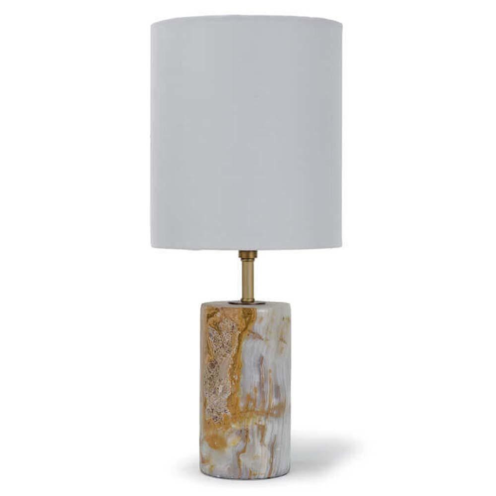 Regina Andrew - Jade And Brass Mini Cylinder Lamp