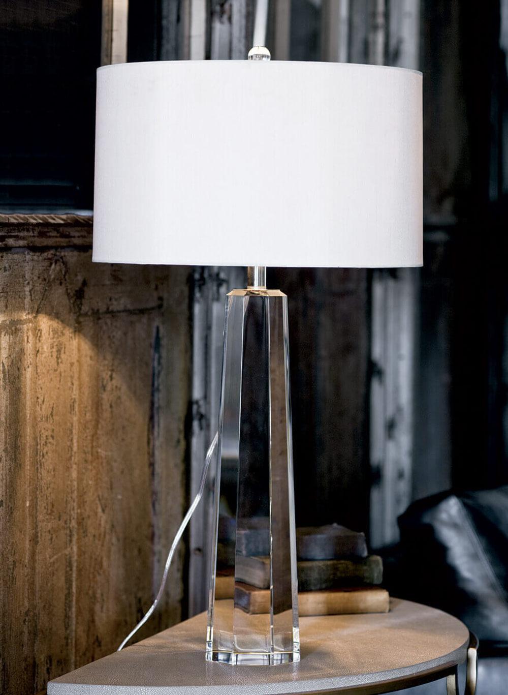 Regina Andrew - Tapered Hex Crystal Lamp