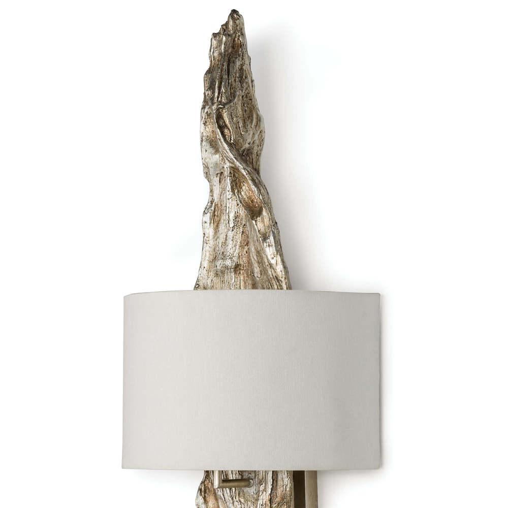 Regina Andrew - Silver Leaf Drift Wood Sconce