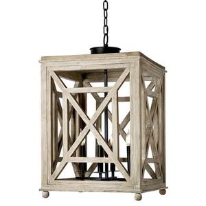 Thumbnail of Regina Andrew - Wood Lattice Lantern Chandelier