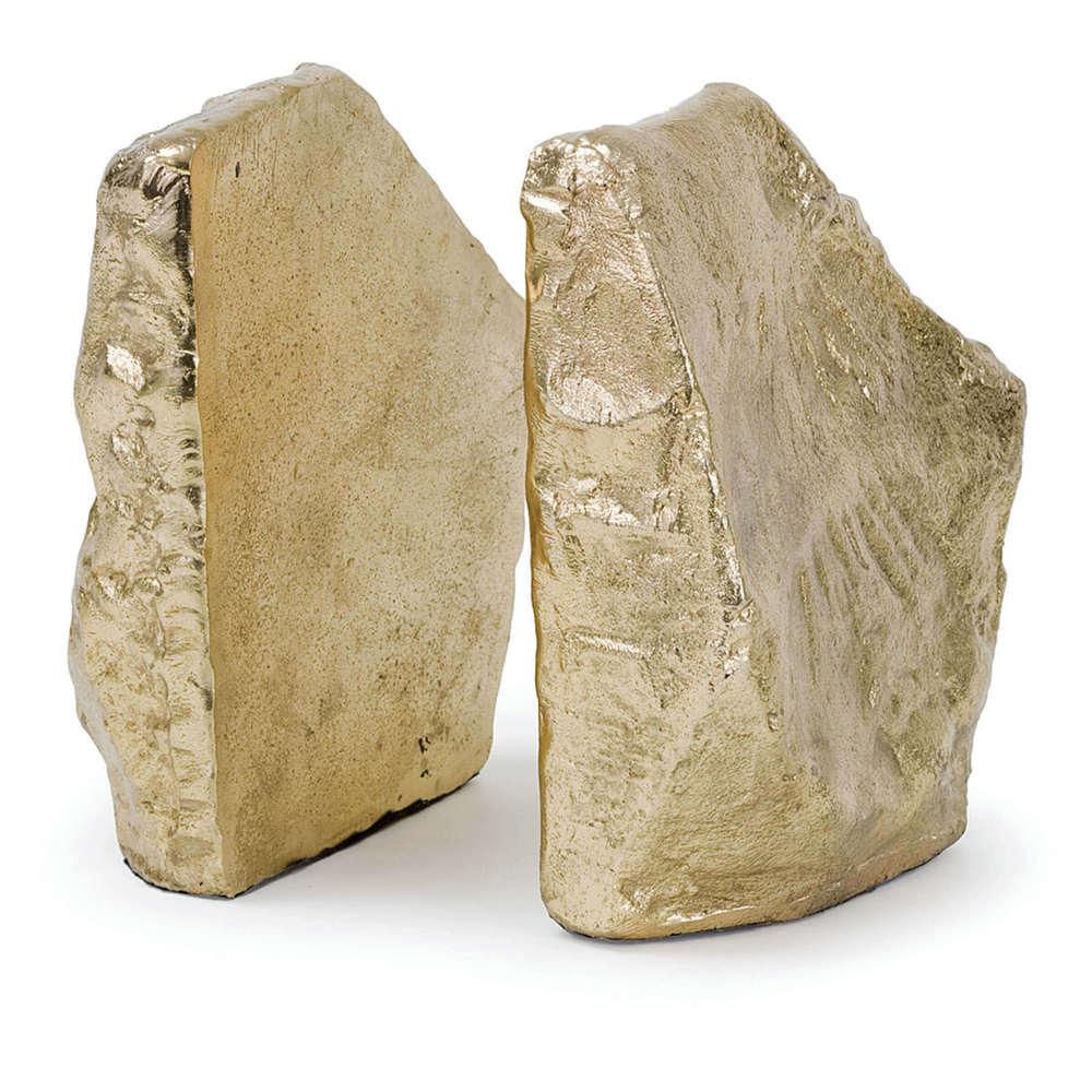 Regina Andrew - Soft Gold Rock Bookend Set