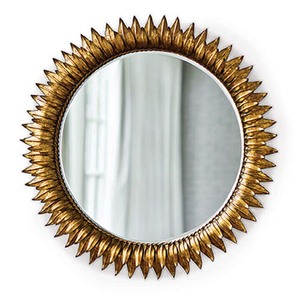 Thumbnail of Regina Andrew - Round Sun Flower Beveled Mirror