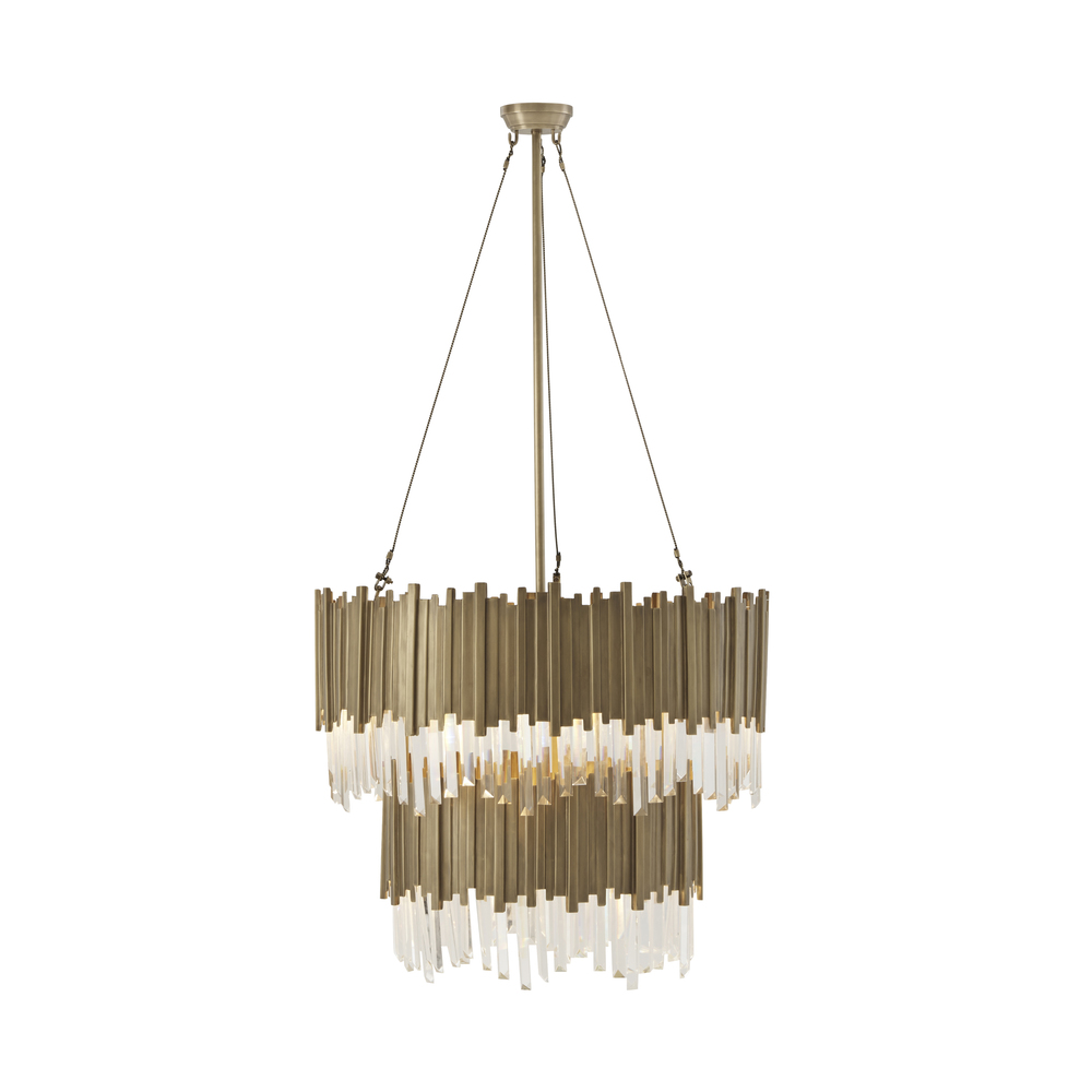 Theodore Alexander-Quick Ship - Brass Chandelier