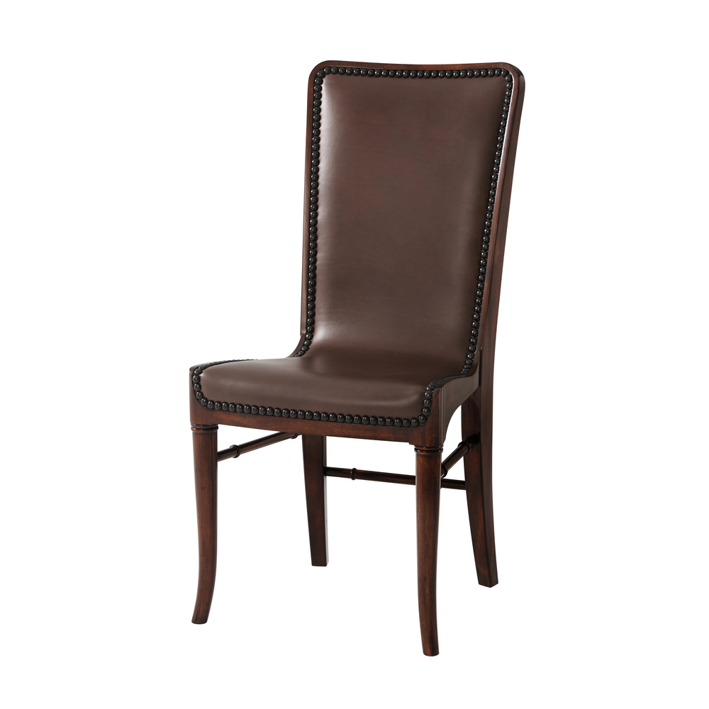 Theodore Alexander-Quick Ship - Leather Sling Dining Chair