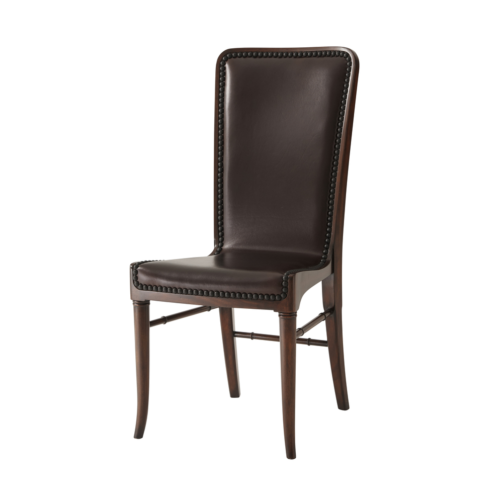 THEODORE ALEXANDER-QUICK SHIP - Wooden Upholstered Side Chair