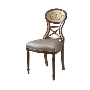 Thumbnail of THEODORE ALEXANDER-QUICK SHIP - Wooden Upholstered Side Chair