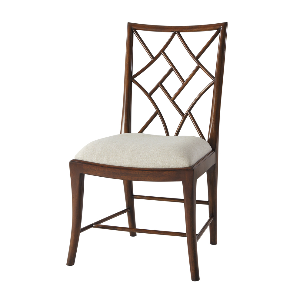 Theodore Alexander-Quick Ship - Delicate Trellis Side Chair
