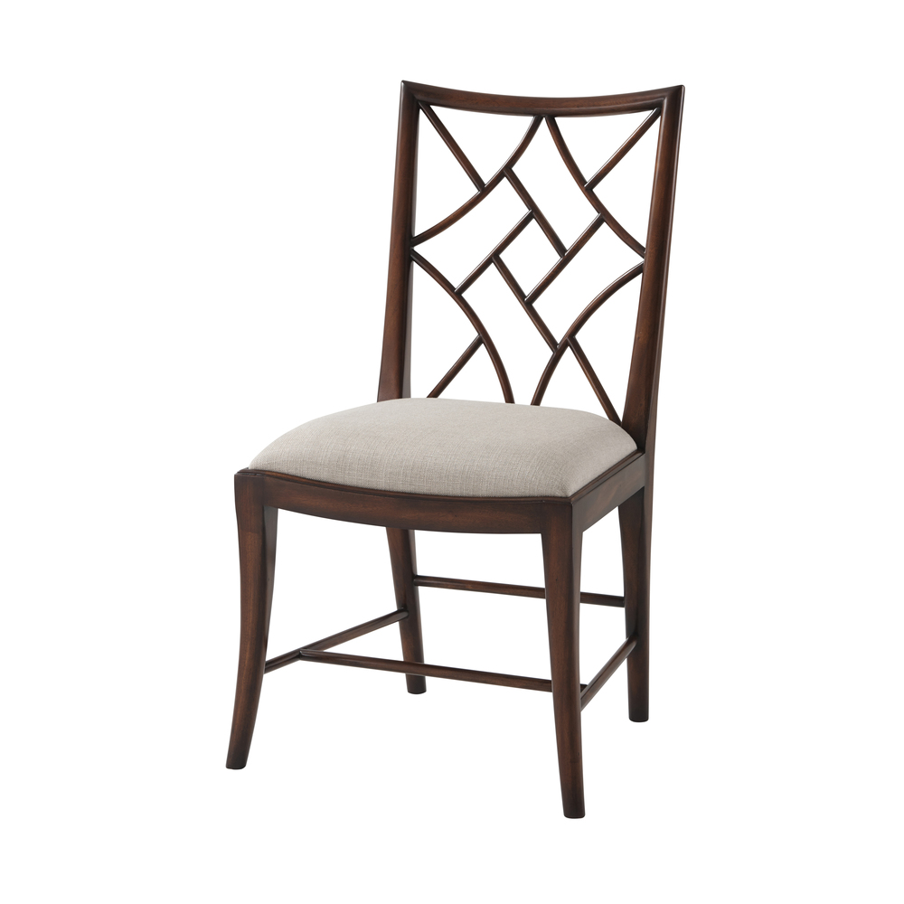 Theodore Alexander-Quick Ship - A Delicate Trellis Side Chair