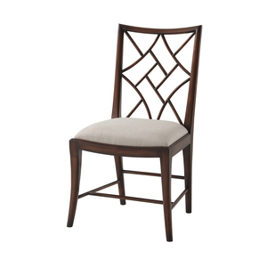 Thumbnail of Theodore Alexander-Quick Ship - A Delicate Trellis Side Chair