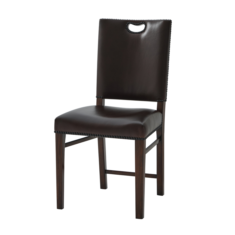 Theodore Alexander-Quick Ship - Tireless Campaign Side Chair