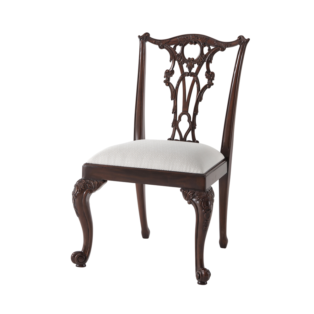 Theodore Alexander-Quick Ship - Seated in Rococo Splendour II Side Chair