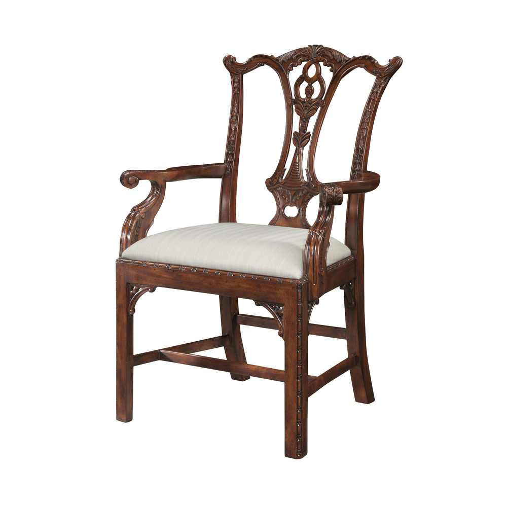 Theodore Alexander-Quick Ship - Mrs Chippendale's Formal Armchair
