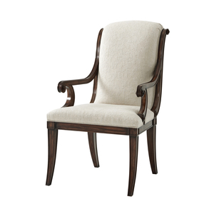 Thumbnail of THEODORE ALEXANDER-QUICK SHIP - Wooden Upholstered Arm Chair
