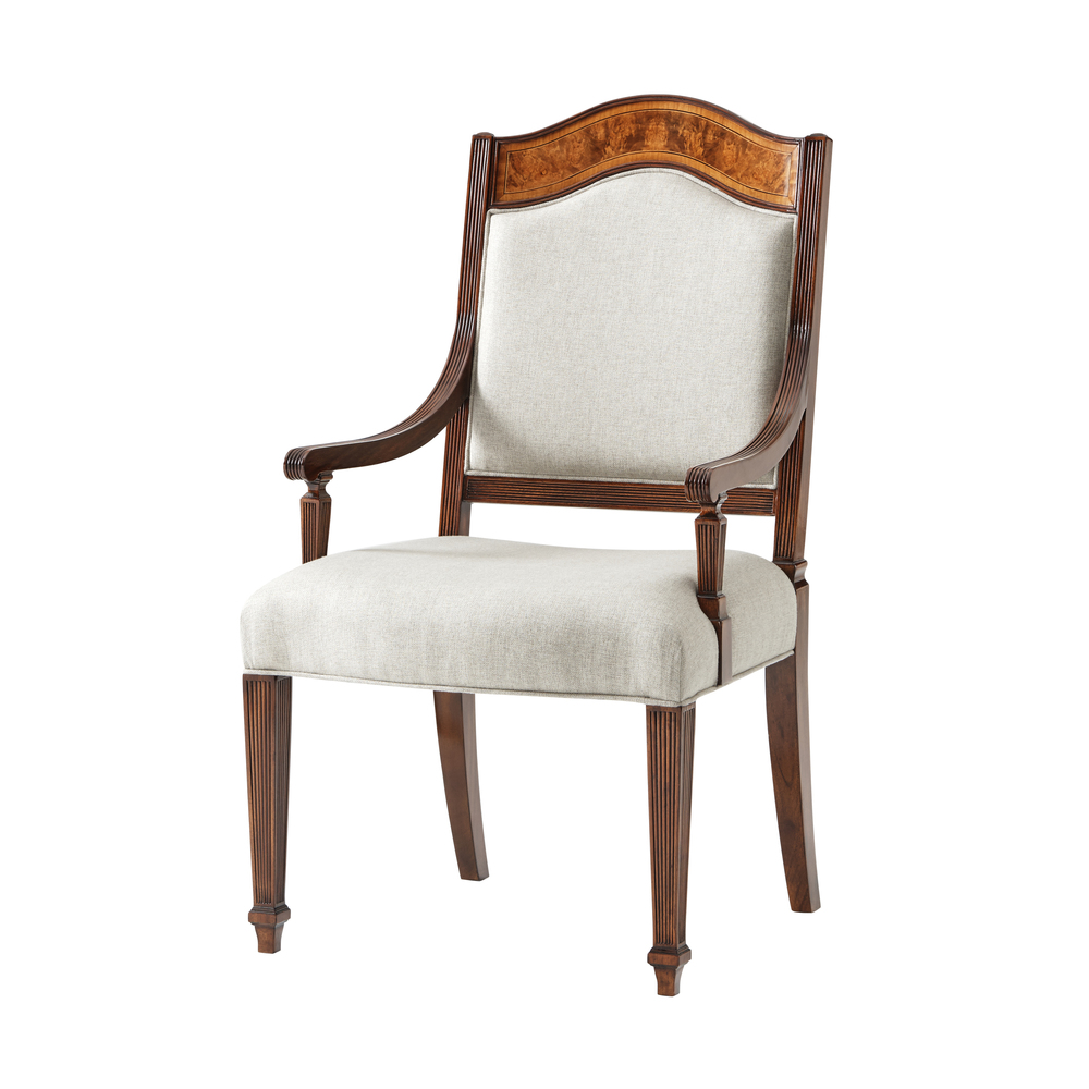 Theodore Alexander-Quick Ship - Sheraton's Satinwood Armchair