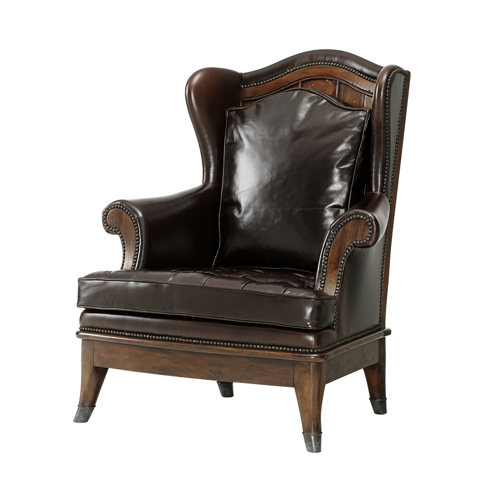 Theodore Alexander-Quick Ship - The Castle Fireside Upholstered Chair