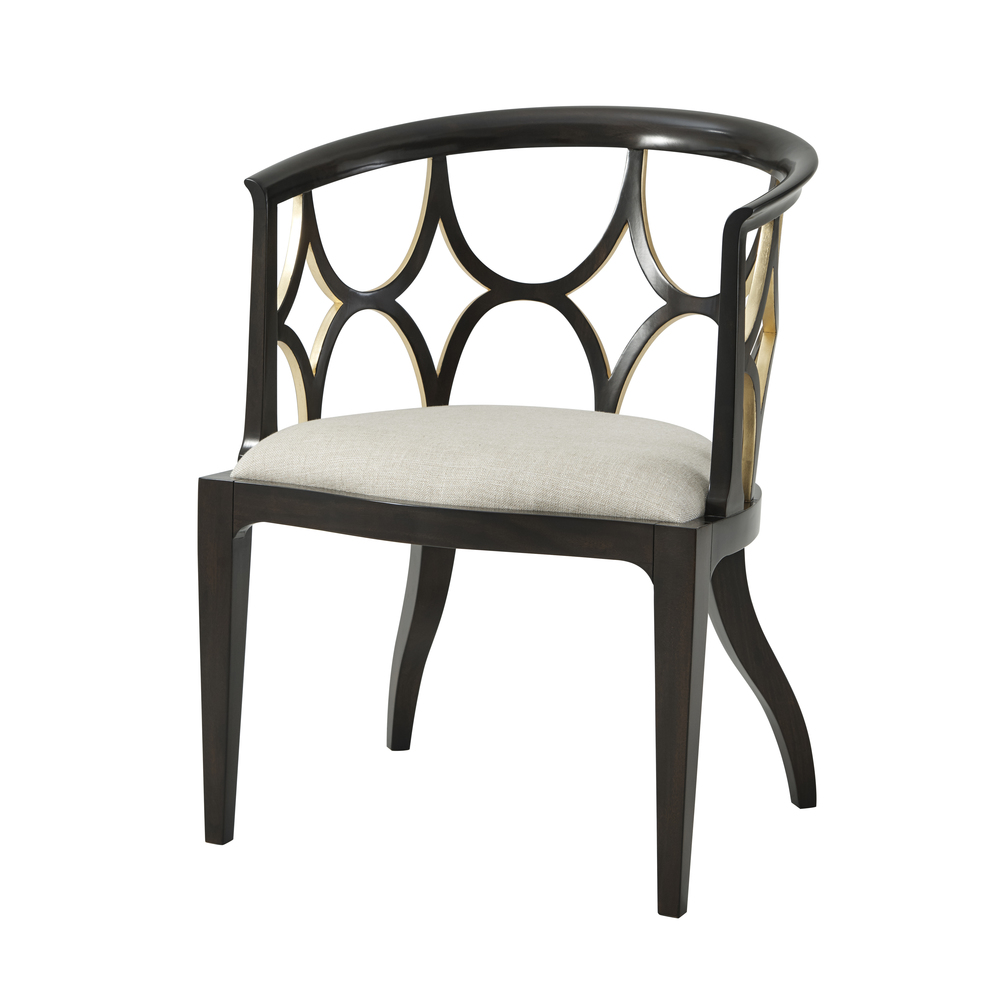 Theodore Alexander-Quick Ship - Ebonised Connaught Accent Chair