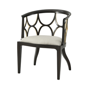 Thumbnail of Theodore Alexander-Quick Ship - Ebonised Connaught Accent Chair
