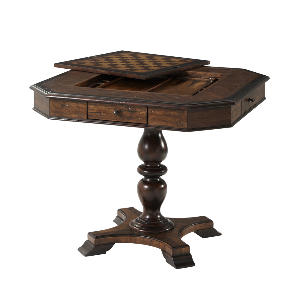 Theodore Alexander-Quick Ship - Wooden Game Table
