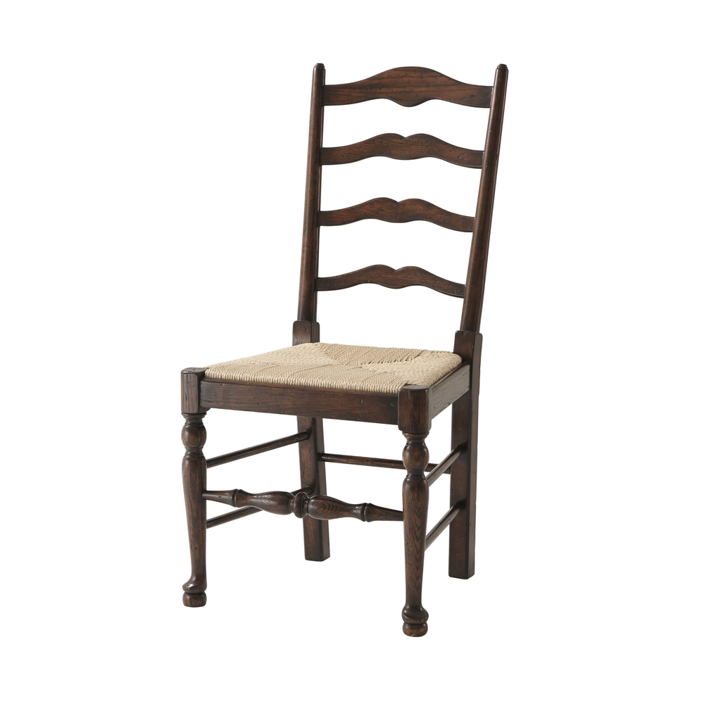 Theodore Alexander-Quick Ship - Victory Oak Ladderback Side Chair