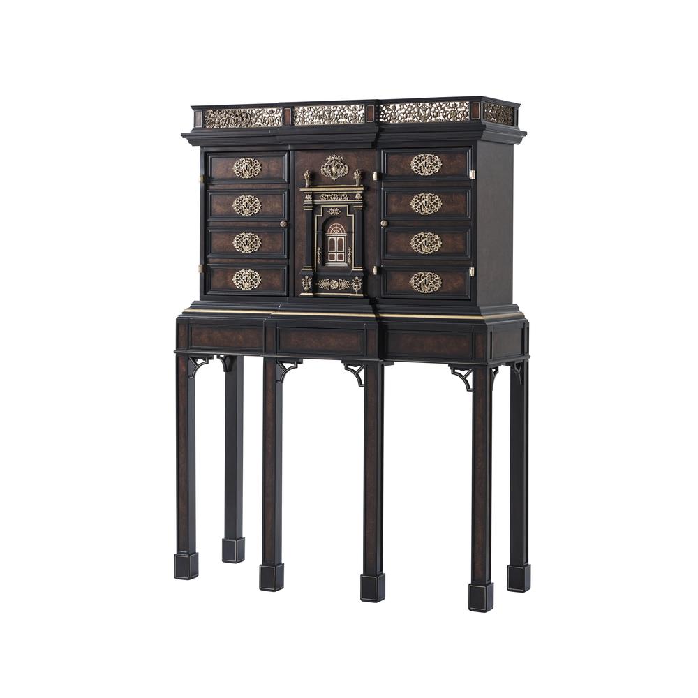 Theodore Alexander-Quick Ship - Curiosities Bar Cabinet