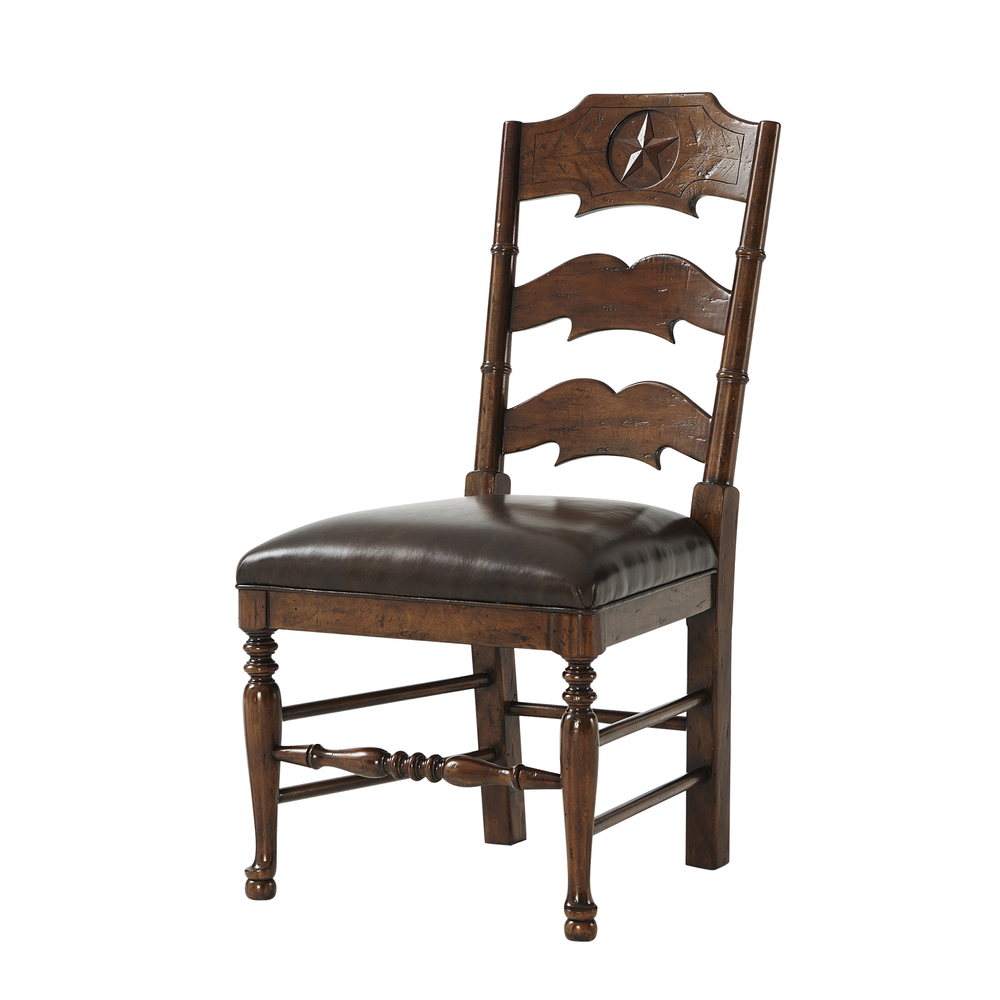 Theodore Alexander-Quick Ship - Chevron And Star Side Chair