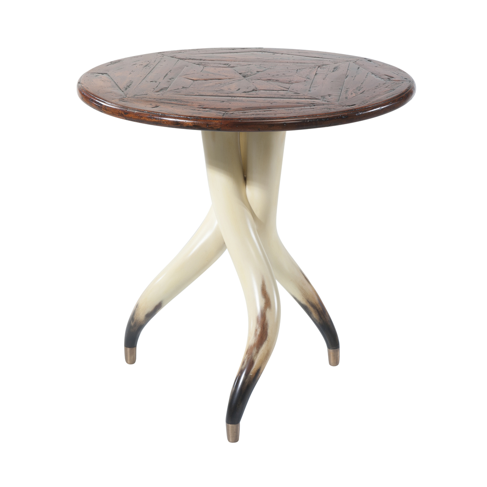 Theodore Alexander-Quick Ship - The Longhorn Side Table