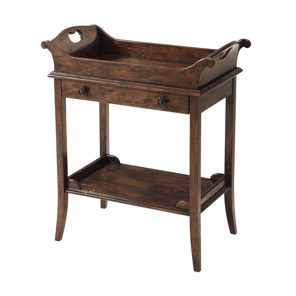 Theodore Alexander-Quick Ship - The Herb Garden Side Table
