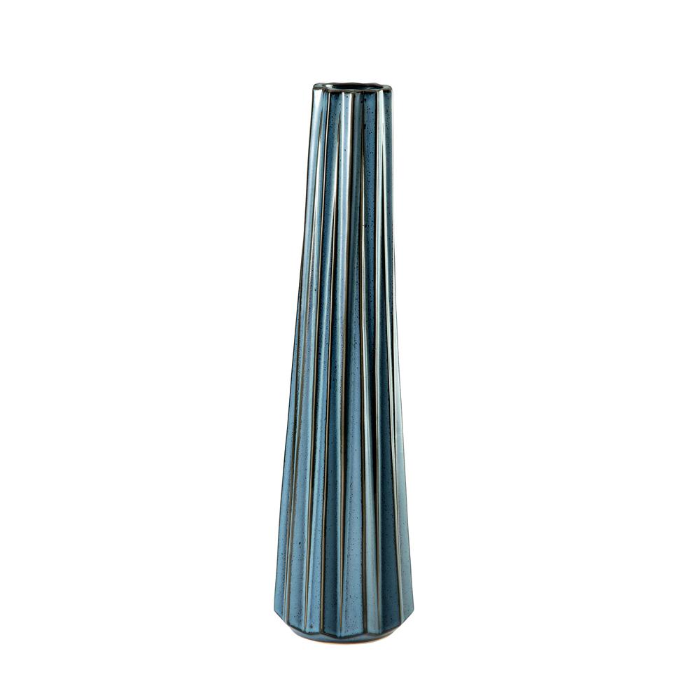 Theodore Alexander-Quick Ship - Alpine Blue Medium Vase