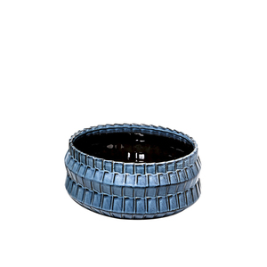 Thumbnail of Theodore Alexander-Quick Ship - Basket Blue Bowl