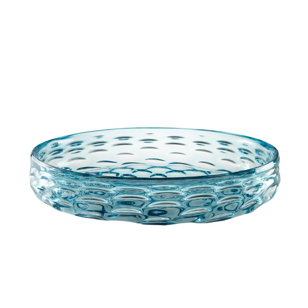 Theodore Alexander-Quick Ship - Glass Wake Blue Bowl