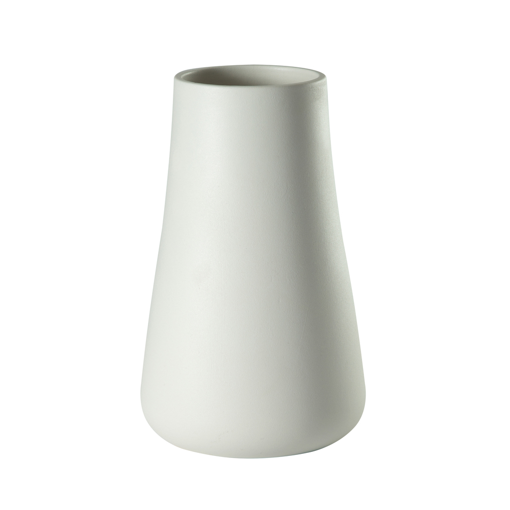 Theodore Alexander-Quick Ship - Baltic Low Matte White Vase