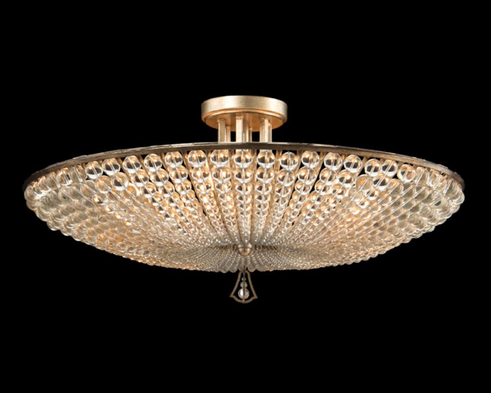 John Richard Collection - Six Light Beaded Crystal Semi Flush Mount