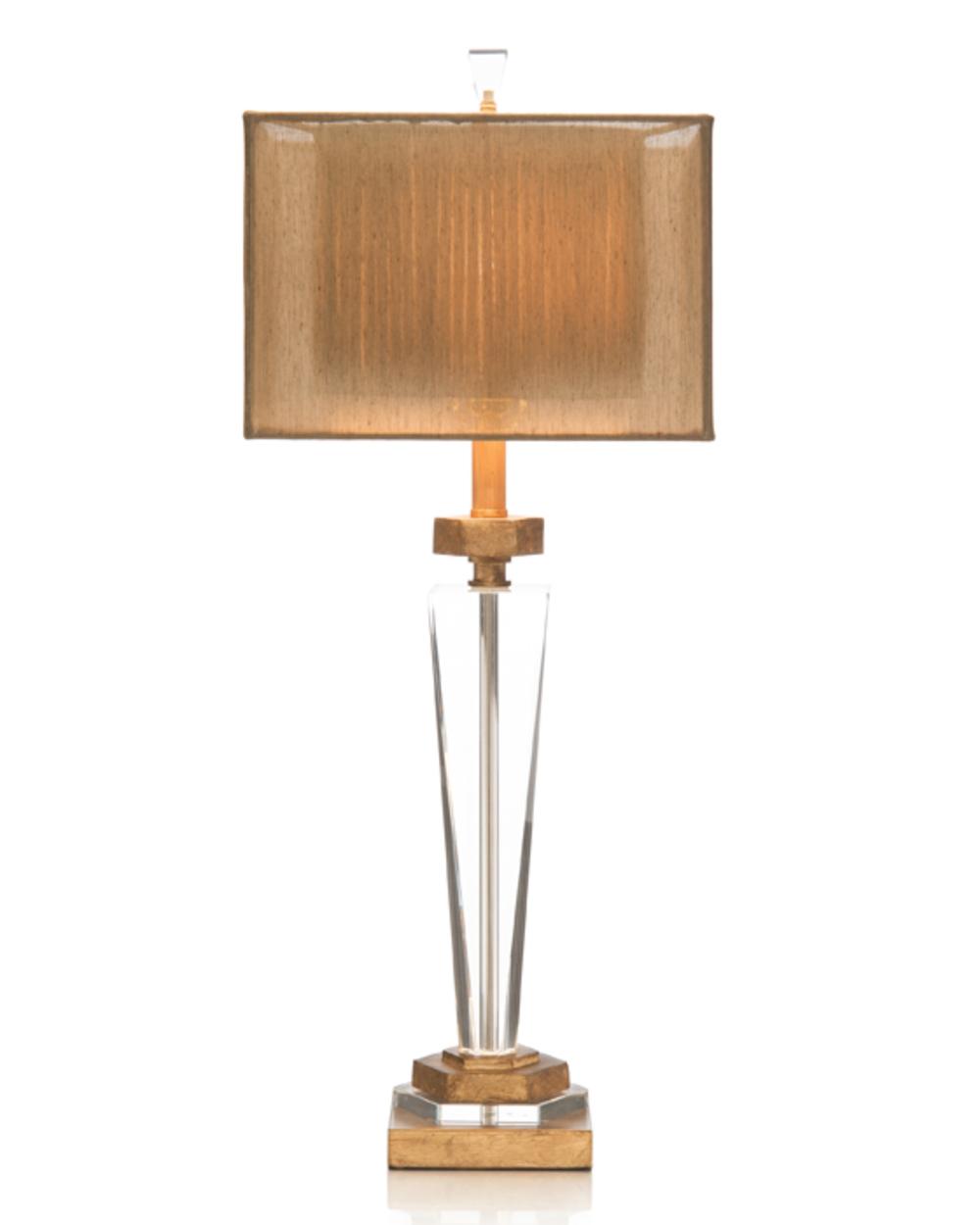 John Richard Collection - Crystal/Antique Brass Metal Lamp