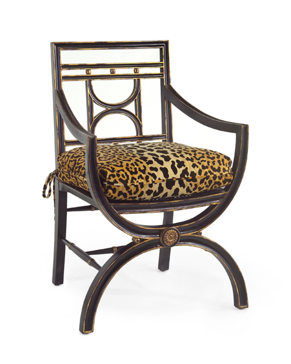 John Richard Collection - Cane Seat Arm Chair with Cushion