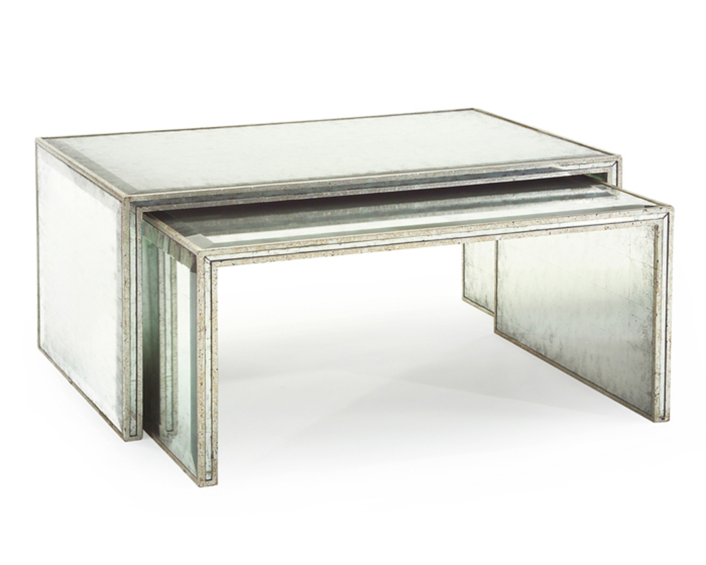 John Richard Collection - Eglomise Nesting Cocktail Tables