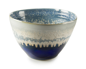 Thumbnail of John Richard Collection - Reactive Blue and Cream Bowl