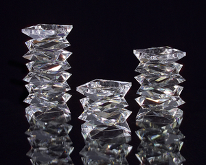 Thumbnail of JOHN RICHARD COLLECTION - Stacked Crystal Candle Holder