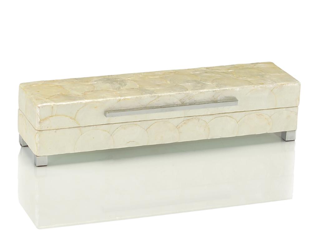 John Richard Collection - Short White Capiz Shell Box