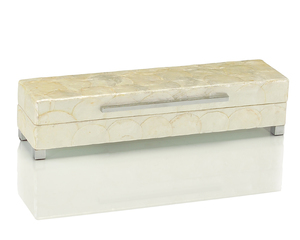 Thumbnail of John Richard Collection - Short White Capiz Shell Box