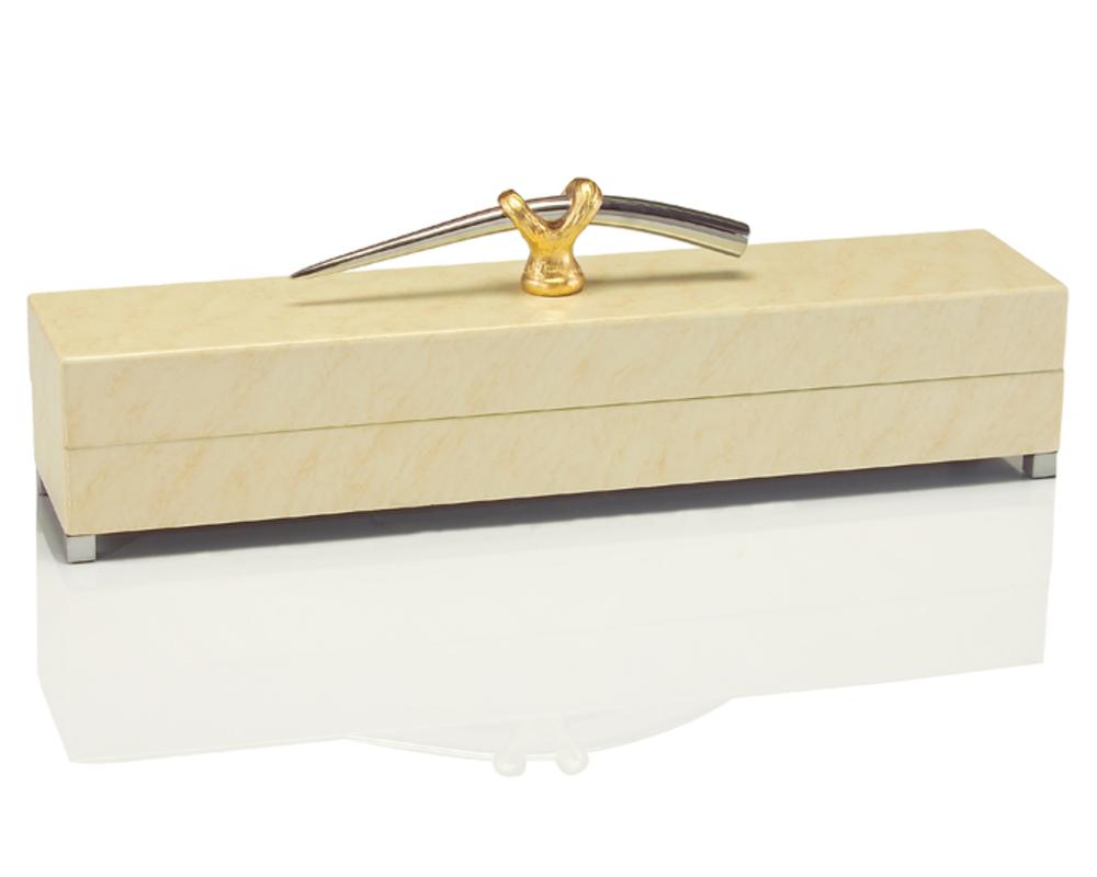 John Richard Collection - Cream Box with Handles