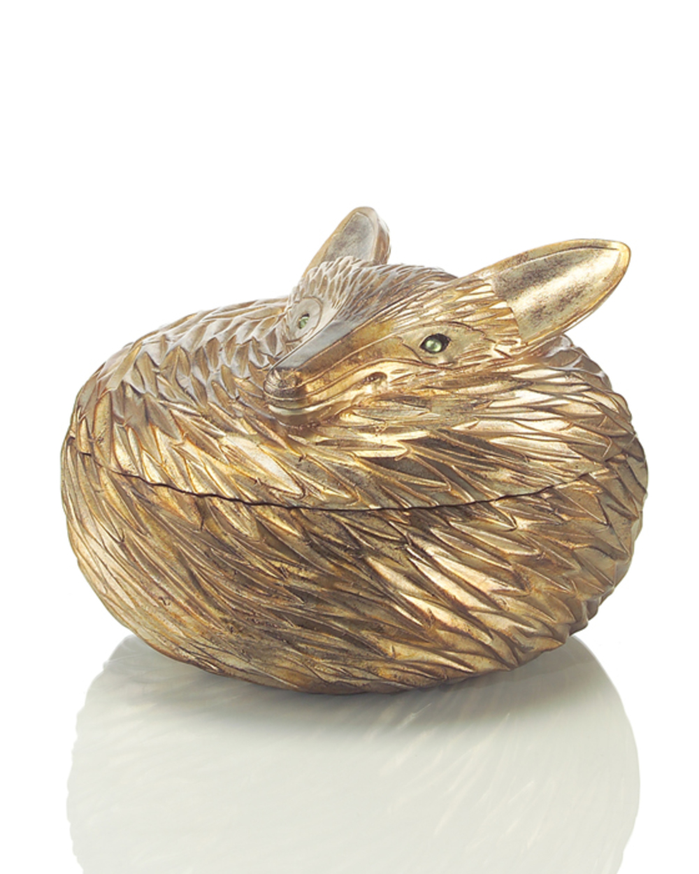 John Richard Collection - Antique Silver Leaf Fox Box