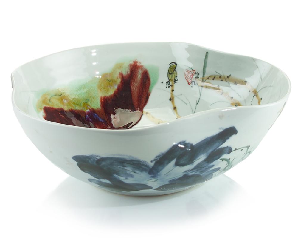John Richard Collection - Curled Rim Large Bowl
